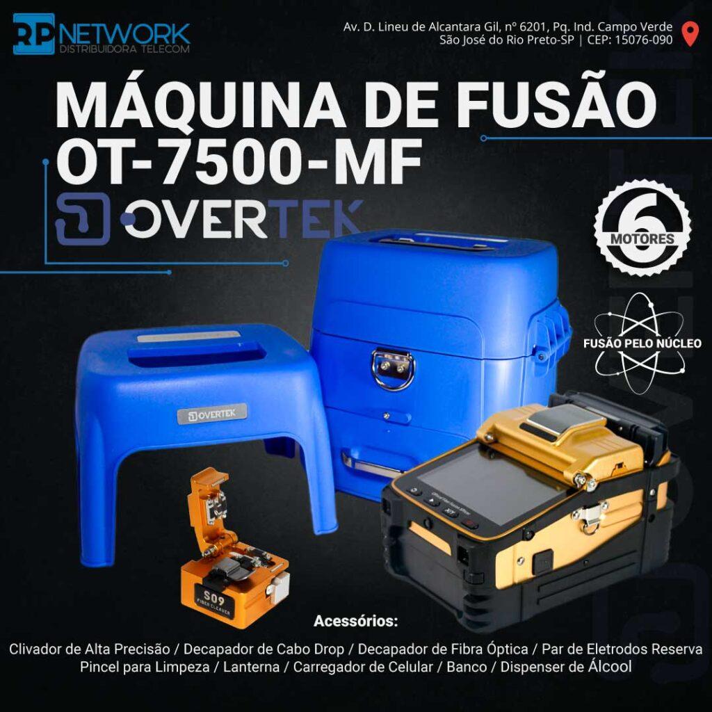 máquina de fusão ot-7500-mf